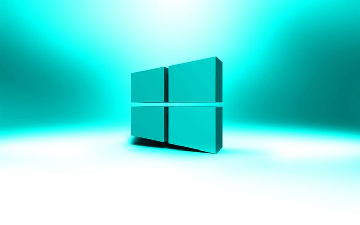Download Wallpapers Windows 10 Blue Logo Artwork Os Blue