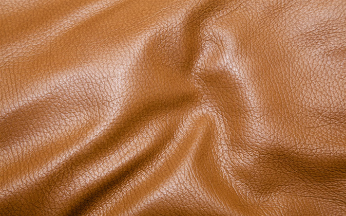 Download Wallpapers Brown Leather Texture Leather Textures Leather Wavy Background Brown Backgrounds Leather Backgrounds Macro Leather For Desktop Free Pictures For Desktop Free