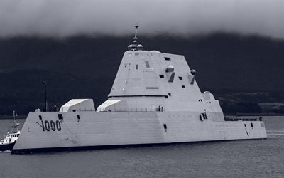 USS Zumwalt, DDG-1000, destroyer, battleship, United States Navy, US army, US Navy, Zumwalt class