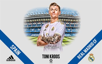 Toni Kroos, Real Madrid, portrait, German footballer, midfielder, La Liga, Spain, Real Madrid footballers 2020, football, Santiago Bernabeu
