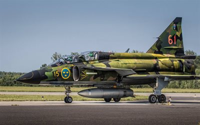 Saab 37 Viggen, combat aircraft, Swedish Air Force, viggen, Swedish Army, fighter, Saab