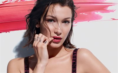 Bella Hadid, 2019, american supermodels, beauty, american celebrity, Isabella Khair Hadid, brunette woman, Bella Hadid photoshoot