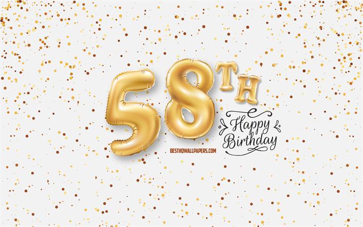 Telecharger Fonds D Ecran 58e Joyeux Anniversaire 3d Ballons Lettres Anniversaire D Arriere Plan Avec Des Ballons 58 Ans Heureux 58e Anniversaire Fond Blanc Joyeux Anniversaire Carte De Voeux Joyeux 58 Ans Anniversaire Pour Le