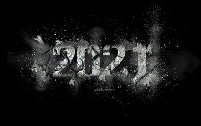 2021 New Year, 2021 explosion background, 2021 concepts, Happy New Year 2021, black 2021 background, 2021 smoke background