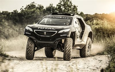 Peugeot 2008, Dakar, rally, off-road, sand, desert