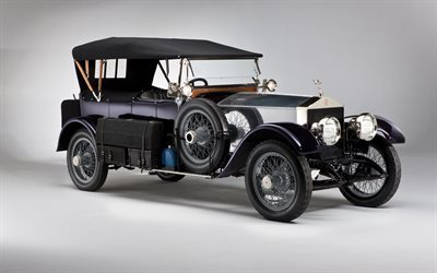 rolls-royce ghost, 1914, vintage cars, classic cars, rarities, first rolls-royce cars