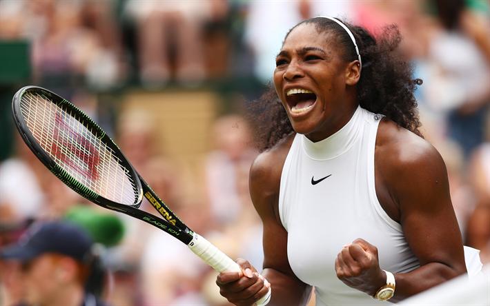 Serena Williams USA Tennis American Player Portrait WTA