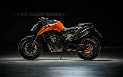 KTM 790 Duke, 2018, 4k, side view, sports bike, KTM