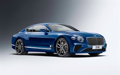 Bentley Continental GT, studio, 2018 cars, new Continental GT, supercars, Bentley