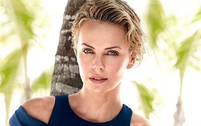 Charlize Theron, 2018, american actress, Hollywood, portrait, beauty, blonde