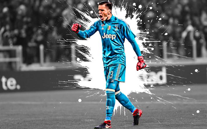Download Wallpapers Wojciech Szczesny 4k Juventus Fc Polish Football Player Goalkeeper Art Blue Uniform Juventus For Desktop Free Pictures For Desktop Free