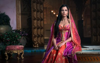 Naomi Scott, English Actress, Indian Dress, Photoshoot, Hollywood Star, Popular Actresses