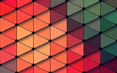triangles patterns, 4k, geometric shapes, background with triangles, geometric textures, triangles, geometric patterns