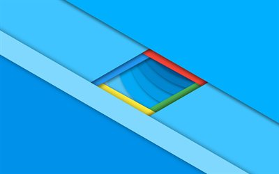 lines, blue background, rhombus, material design, geometry, abstract material, art