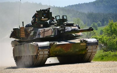 M1 Abrams, 4k, tanks, M1A2 SEP V2, battle tank, armored vehicles