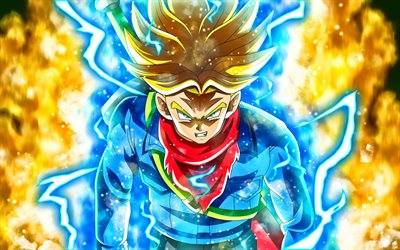Dragon Ball Super, Mirai Trunks, Saiyan blood, anime manga, characters, japonese manga, DBS