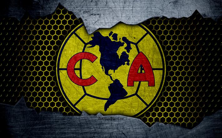 Download Wallpapers Club America 4k Logo Liga Mx Soccer Primera