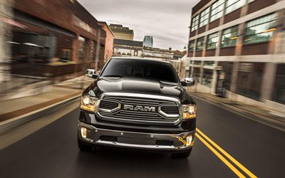Ram 1500 Limited Tungsten, 2018 cars, pickup, road, new Ram 1500, SUVs