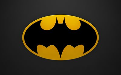 Logo de Batman, 4k, superhero, logotipo, Batman, grunge