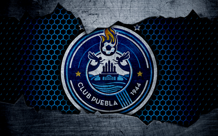Descargar fondos de pantalla Puebla, 4k, logo, Liga MX, soccer, Primera Division, football club ...