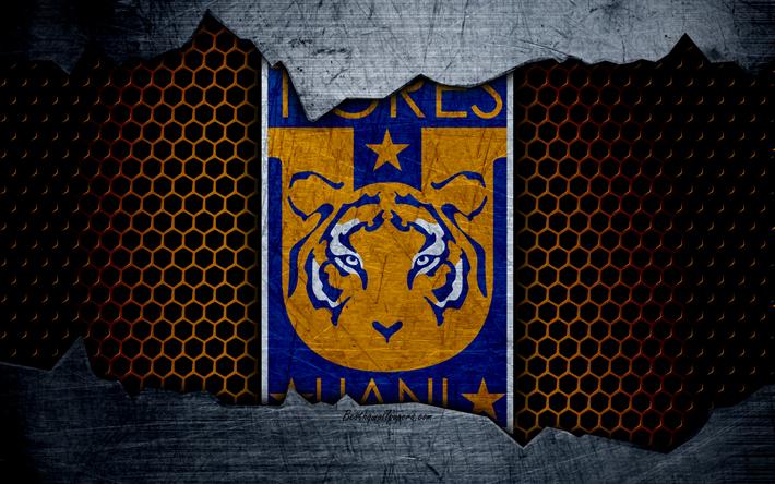 Descargar Fondos De Pantalla Tigres Uanl 4k Logo Liga Mx Fútbol