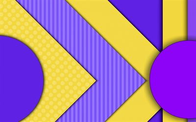 strips, violet lines, yellow lines, material design, geometry, abstract material, art