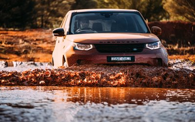 Land Rover Discovery Sport, offroad, 2017 cars, mud, new Discovery Sport, river, Land Rover