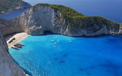 Ionian Sea, Zakynthos Island, Navagio, beach, Greece, travels