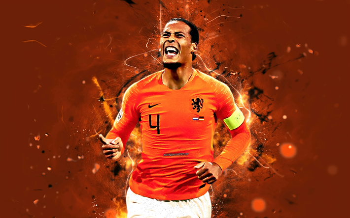 Download Wallpapers Virgil Van Dijk, Goal, Netherlands