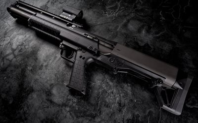 Kel-Tec KSG, pump action shotgun, American weapons, rifles