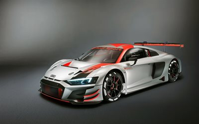 Audi R8 LMS GT3, 2019, racing car, tuning R8, rear spoiler, aerodynamic kit, Audi