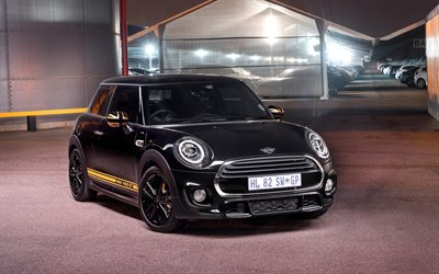Mini 1499 GT, 2018, black hatchback, front view, tuning, Mini Cooper S, British cars, Mini
