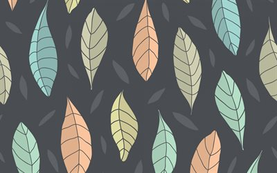 texture with autumn leaves, retro autumn background, leaves background, autumn, seamless texture
