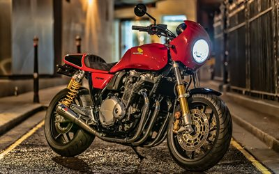 Honda CB1100RS, 4k, night, 2019 bikes, superbikes, 2019 Honda CB1100RS, japanese motorcycles, Honda
