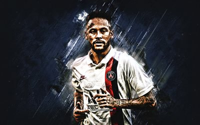 Neymar Jr, Paris Saint-Germain, portrait, PSG, Brazilian footballer, PSG 2020 uniform, Ligue 1, France, Neymar