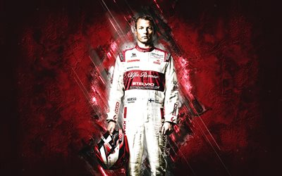Kimi Raikkonen, Alfa Romeo Racing, Formula 1, Finnish race car driver, F1, red burgundy background, The Iceman