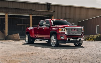 2020, GMC Sierra HD3500, Heavy-Duty Pickup Truck, front view, exterior, tuning Sierra HD3500, american cars GMC