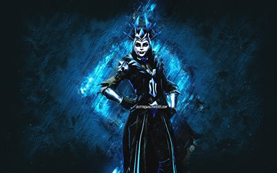 Fortnite The Ice Queen Skin, Fortnite, main characters, blue stone background, The Ice Queen, Fortnite skins, The Ice Queen Skin, The Ice Queen Fortnite, Fortnite characters