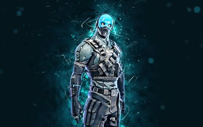 Cobalt Skin, 4k, Fortnite, créatif, Jeux 2020, Fortnite Battle Royale, Personnages Fortnite, Cobalt, Cobalt Fortnite