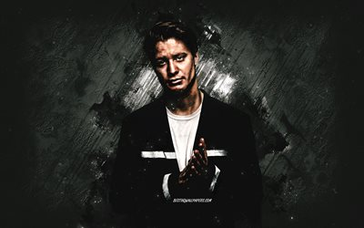 Kygo, Norwegian DJ, portrait, gray stone background, EDM, Kyrre Gorvell-Dahll