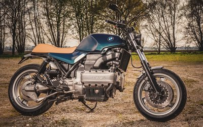 BMW K100RS Custom Roadster, 4k, superbikes, Fat Kat, Woidwerk, tuning, BMW