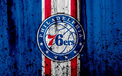 download wallpapers 4k philadelphia 76ers grunge nba