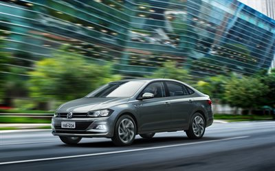 Volkswagen Virtus, 4k, road, 2018 cars, sedans, new Virtus, VW, Volkswagen