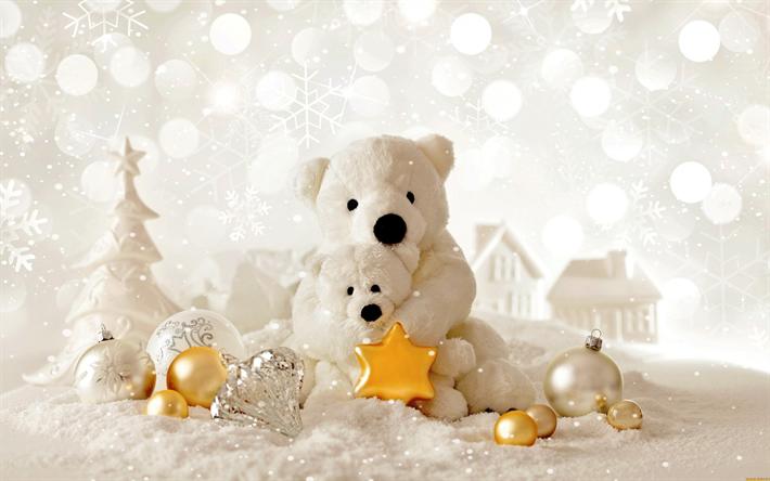 noel 2018 fond d\\\'écran Télécharger fonds d'écran Noël, polaires, ours en peluche, 2018  noel 2018 fond d\\\'écran