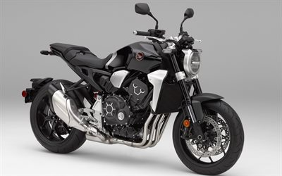 Honda CB1000R, 2018, black cool motorcycle, Japanese motorcycles, Honda