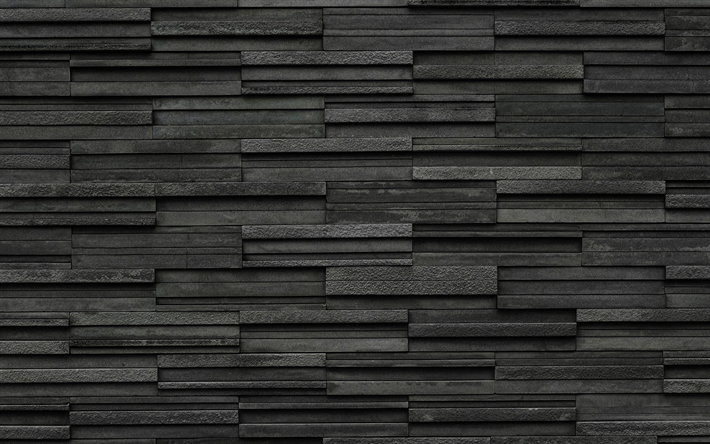 gray stone tile, gray wall, stone texture, decorative tile, wall