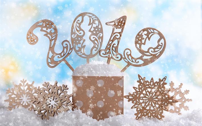 Weihnachten 2019 Schnee.Herunterladen Hintergrundbild 2019 Jahr Buchstaben Aus Holz