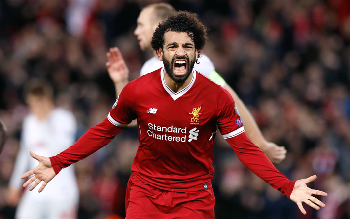 Download Wallpapers Mohamed Salah, Liverpool FC, Premier