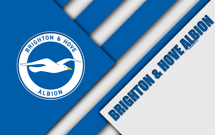Download Wallpapers Brighton And Hove Albion FC, Logo, 4k