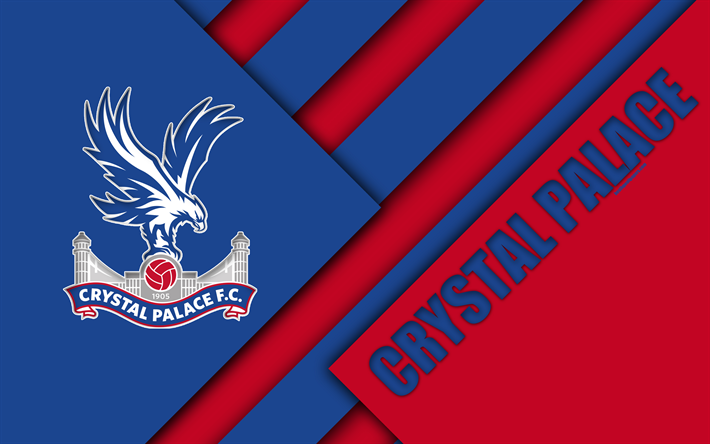 Download Wallpapers Crystal Palace Fc Logo 4k Material Design Blue Red Abstraction Football London England Uk Premier League English Football Club For Desktop Free Pictures For Desktop Free